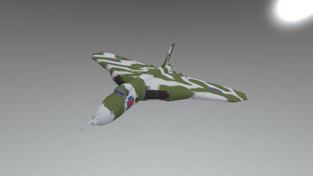 Lowpoly Avro Vulcan 3D Model