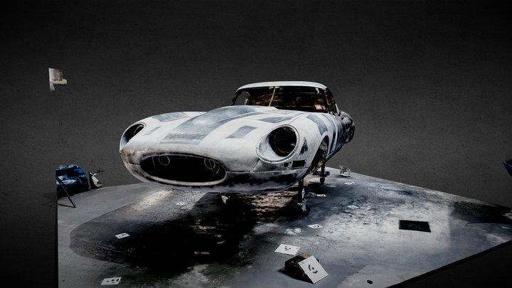 Lightweight Jaguar E Type 3D Model