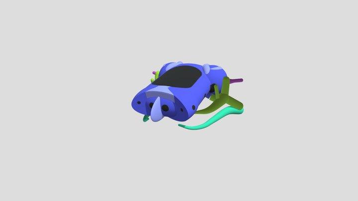 Generalized Tetrapod Chondral Skull 3D Model