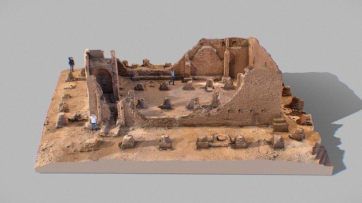 El-Bagawat Basilica Egypt 3D Model