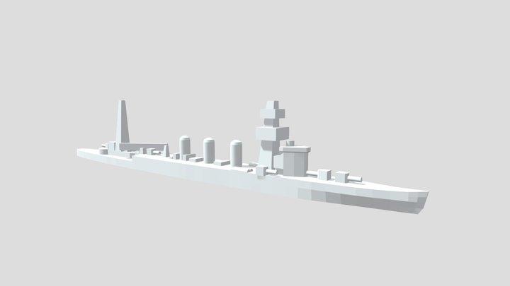 IJN Kuma - Model for 1/4000 printing 3D Model