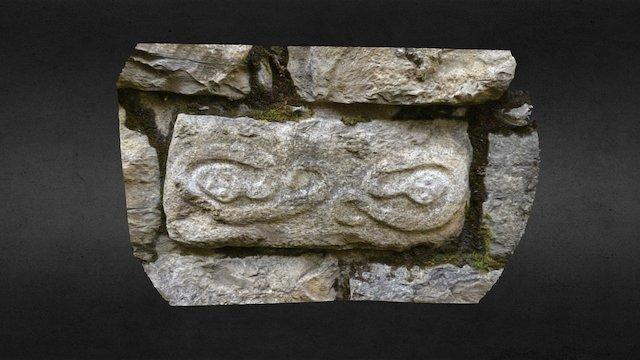 Snakes on Kuelap wall block