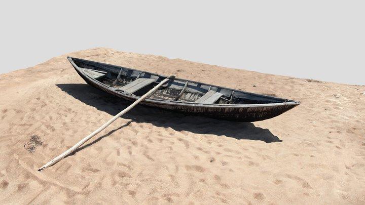 Boat on a coast of Baikal Lake 3D Model