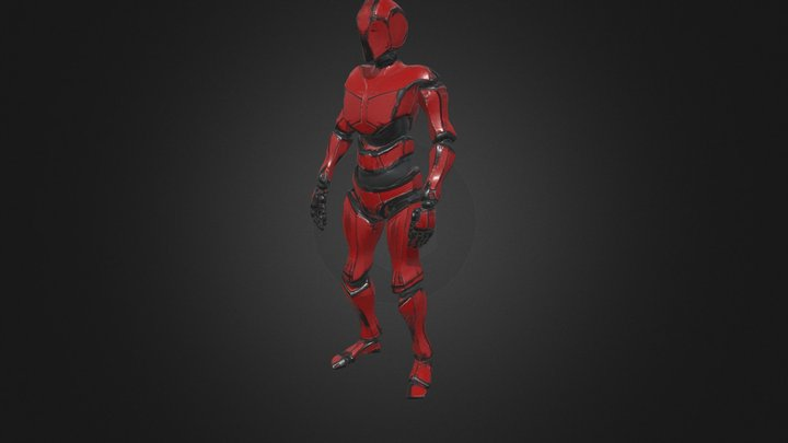 Mixamo bot character (Lowpoly) 3D Model