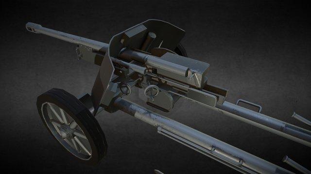 5cm Pak 38 3D Model