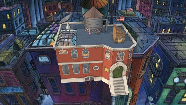 Hey Arnold House 3D Model
