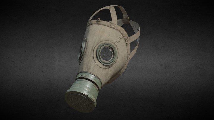 German Gas mask WWI model M1917 3D Model