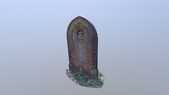Gravestone from St Matthews Church Blackmoor 3D Model