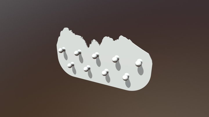 Key holder with mountains 3D Model