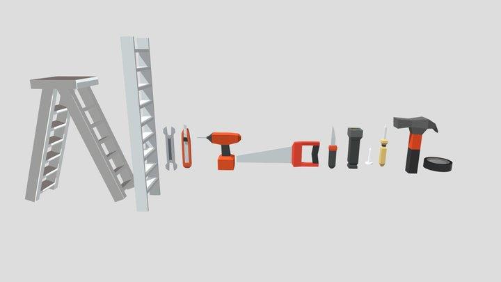 Low Poly Tools 3D Model