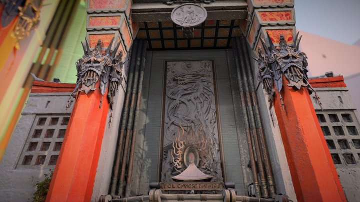 The Grauman's Chinese Theatre in Hollywood. 3D Model