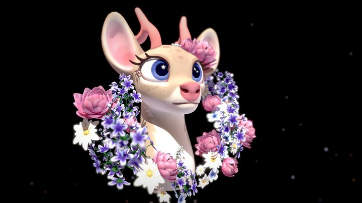 Dear Deer 3D Model