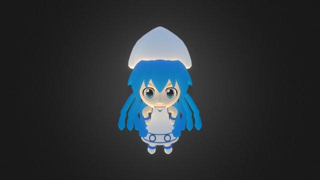 Ika Musume Chibi 3D Model