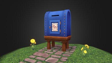 Post Office Big Mail Box v2 3D Model