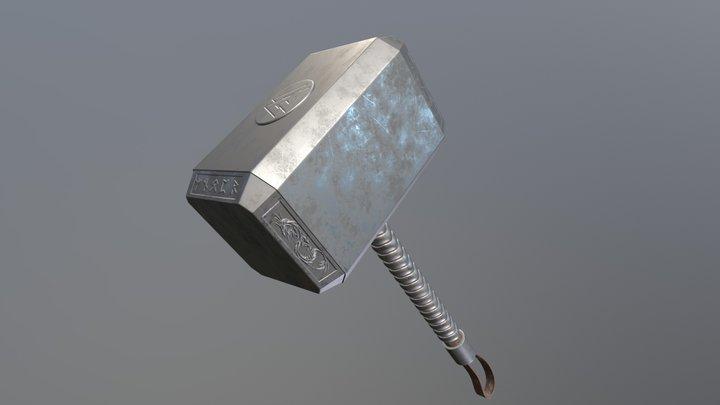 Thor Inspired Hammer 3D Model