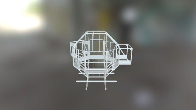 Rhombi House Structure Model 3D Model