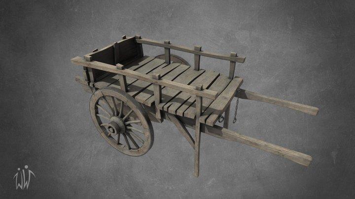Wooden Trader Cart 3D Model