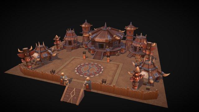 tribe 3D Model