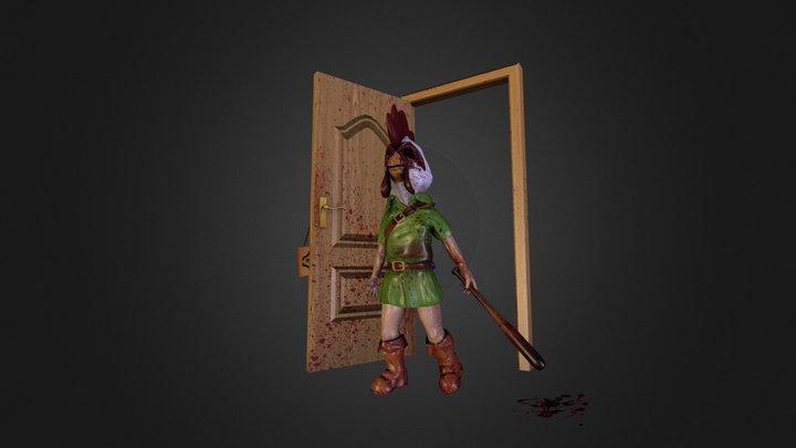 sketchfast7 - FINAL - Zelda meets Hotline Miami 3D Model