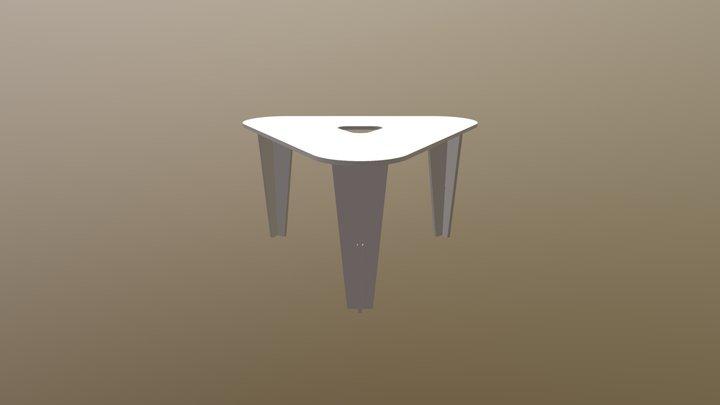 Mesa Triángulo 3D Model