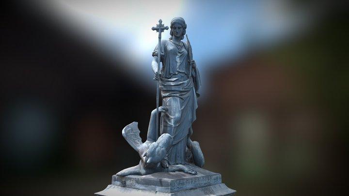 Fountain of Saint Margaret | Margaretenbrunnen 3D Model