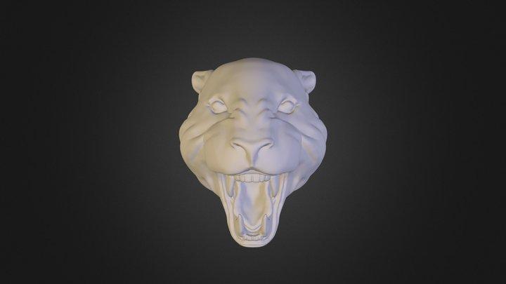 Head Leopard 3D Model