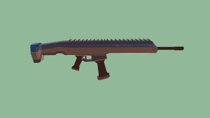 Low poly Riffle 3D Model