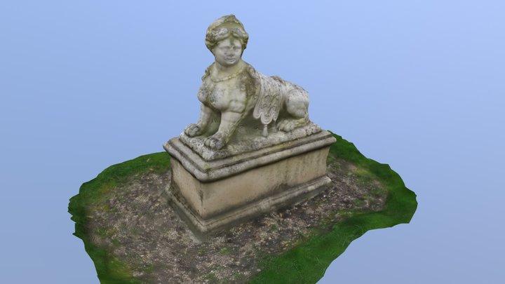 Sphinge regardant à gauche 3D Model