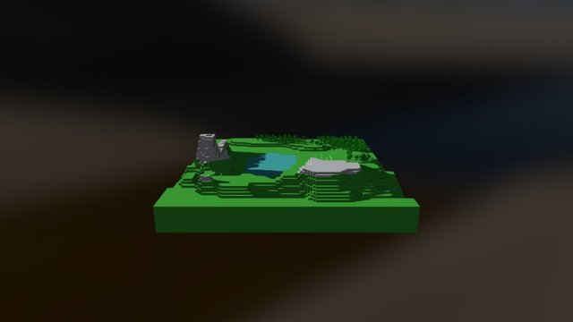 9-Minecraft Escenario (remesh) 3D Model