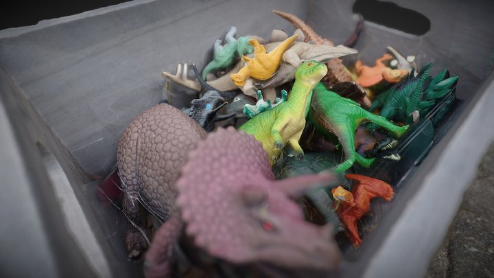 Box of Dinos- #3DST40 3D Model