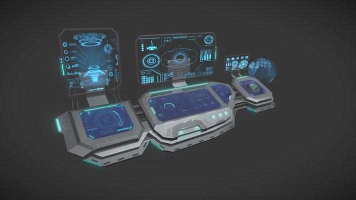 Sci-Fi Panels 3D Model