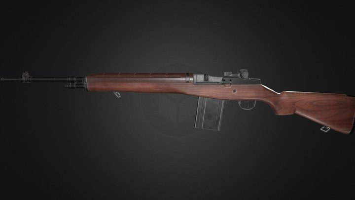 M1A Springfield Armory 3D Model