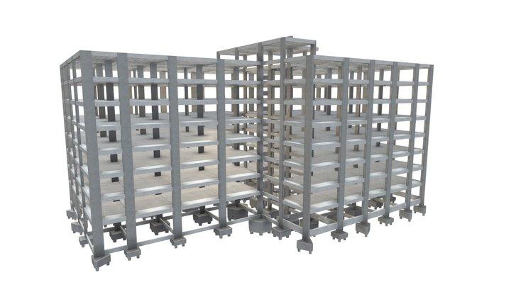 Projeto Estrutural de Garagem 01 3D Model
