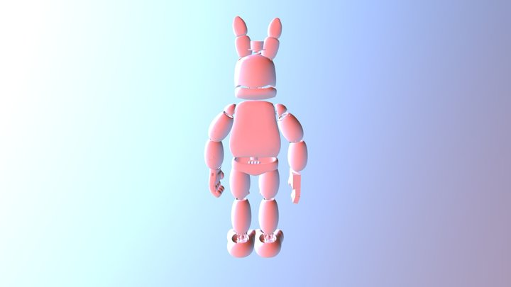 Crazy Bonnie 3D Model
