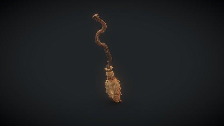 Adventurer's camp: Broom 3D Model