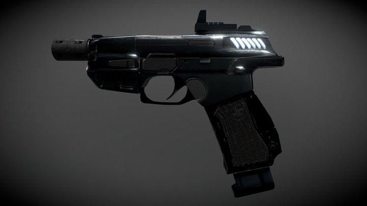 3D Pistol 3D Model