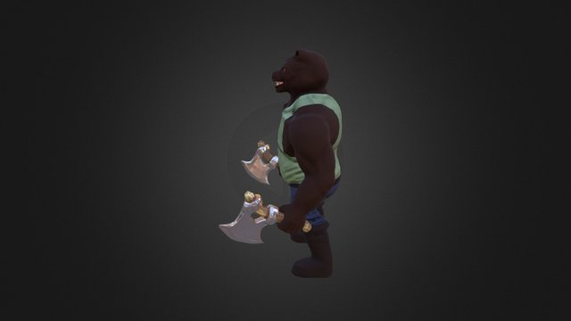 grizzly man 3D Model