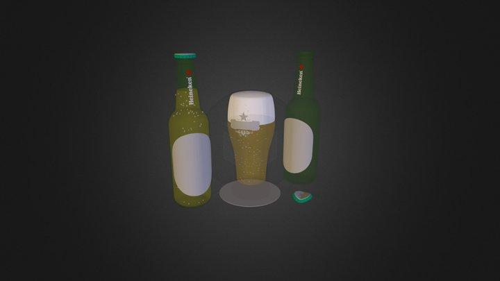 bottle of heineken.zip 3D Model