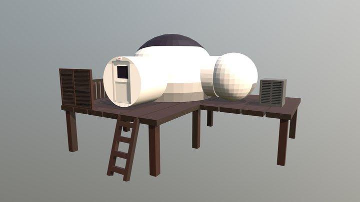Colonial Moon Housing 3D Model