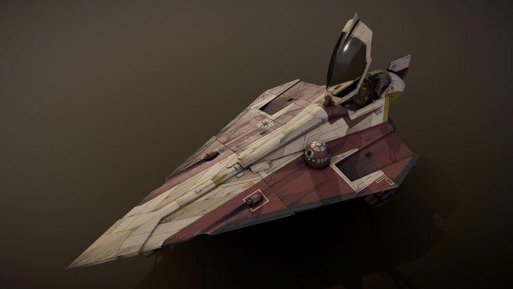 Star Wars Jedi Starfighter (Obi Wan Kenobi) 3D Model