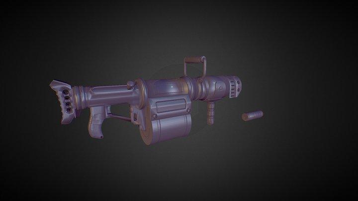 Granad Launcher JuggerFall 3D Model