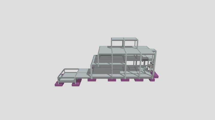 Portfólio 01 - Residência com Laje Treliçada 3D Model