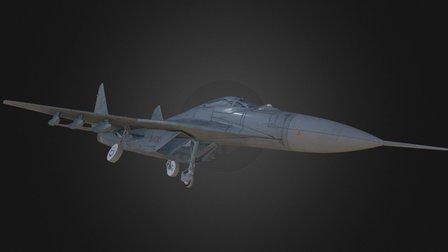 Mig - 29 Jet Fighter Aircraft 3D Model