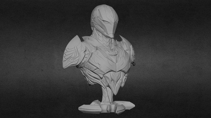 The Dark Armor Bust STL for 3DPrint 3D Model