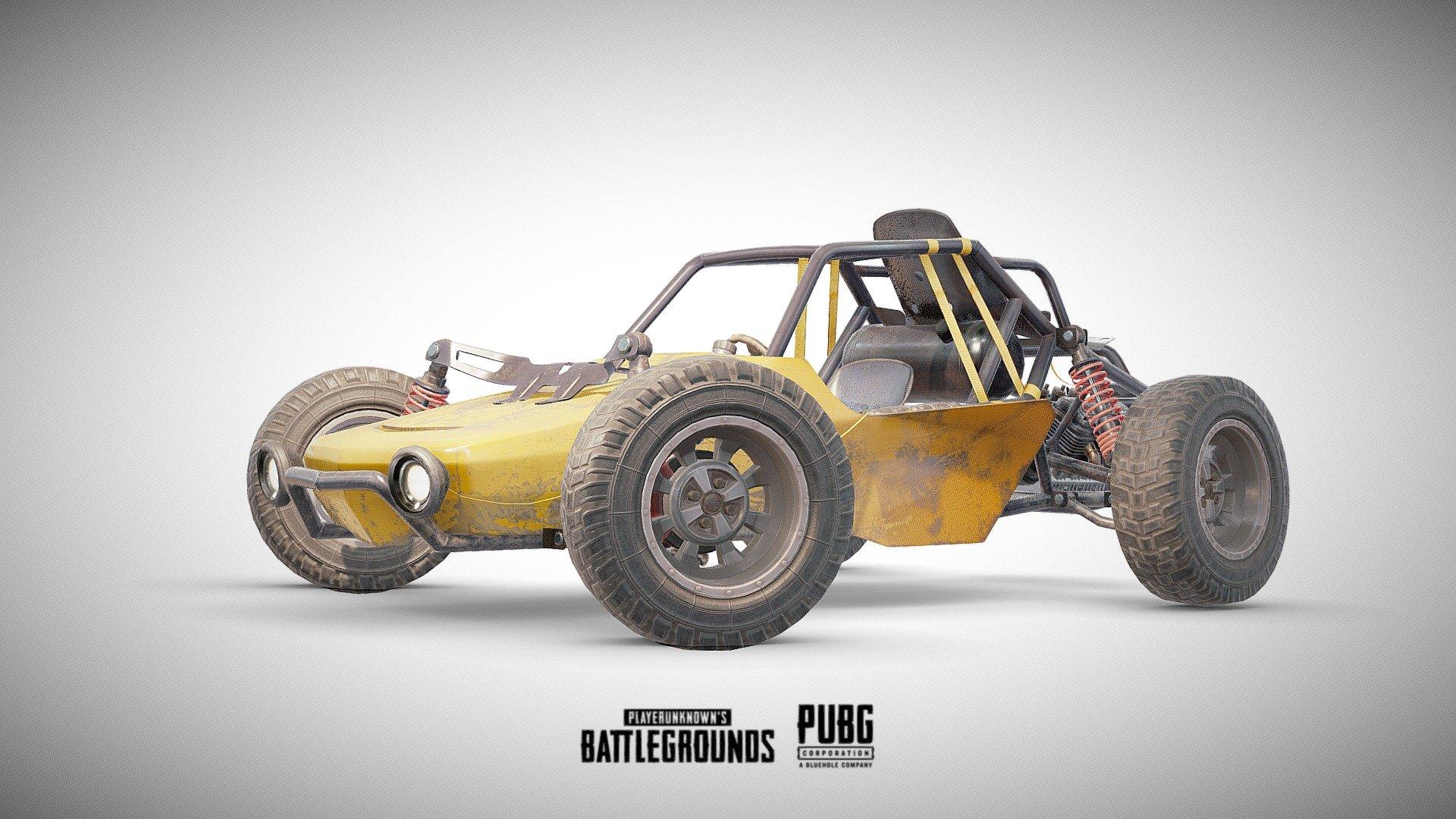 PUBG Buggy Ficial 3D Model By Karol Miklas