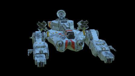 "Royal ""Porcelain"" tank 3D Model"