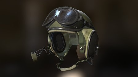 Combat Vehicle Crewman (CVC) Helmet, Vietnam Era 3D Model