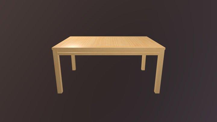 WoodTableAnimation 3D Model