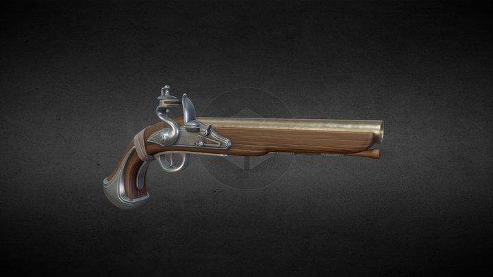 Stylized Flintlock Pistol 3D Model