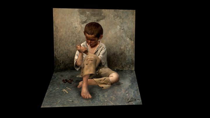 Street Child, After Fernand Pelez 3D Model
